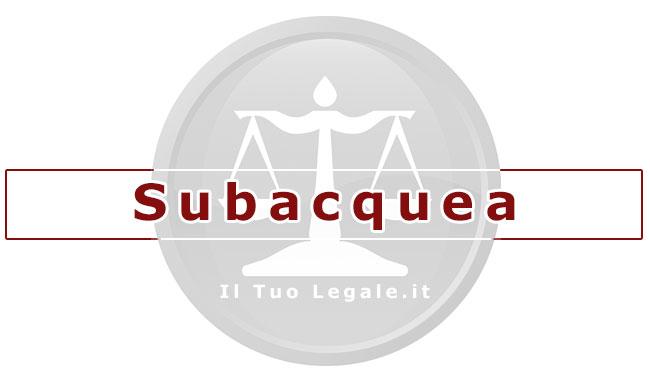 diritto e subacquea