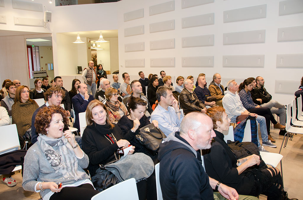 Il pubblico in sala al MUMAC